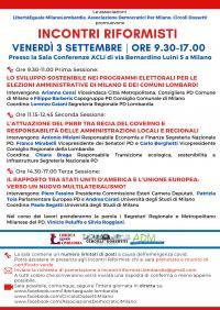 Incontri Riformisti - Milano
