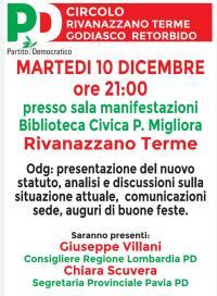 Incontro PD a Rivanazzano Terme
