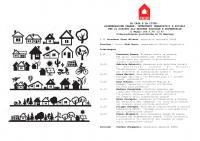 La casa e la città: rigenerazione urbana, interventi urbanistici e sociali per il diritto all'abitare solidale e sostenibile
