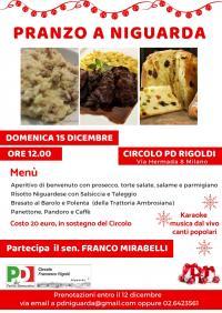 Pranzo di Natale a Niguarda - Milano