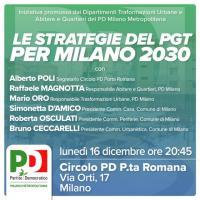 Le strategie del PGT per Milano 2030