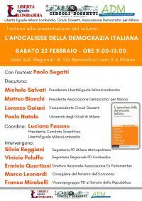 L'Apocalisse della Democrazia italiana - Milano